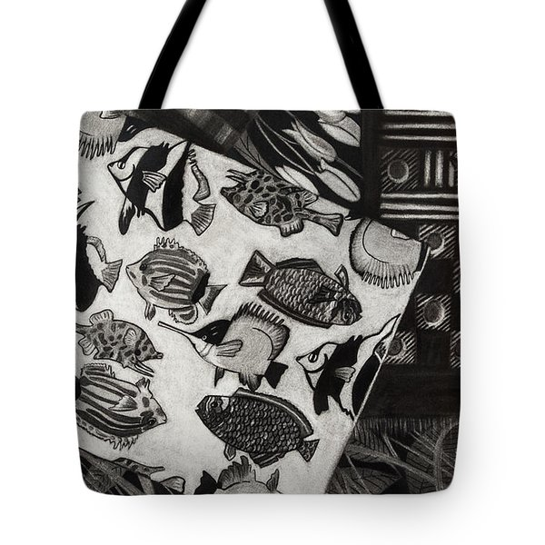 Charcoal Chaos Tote Bag