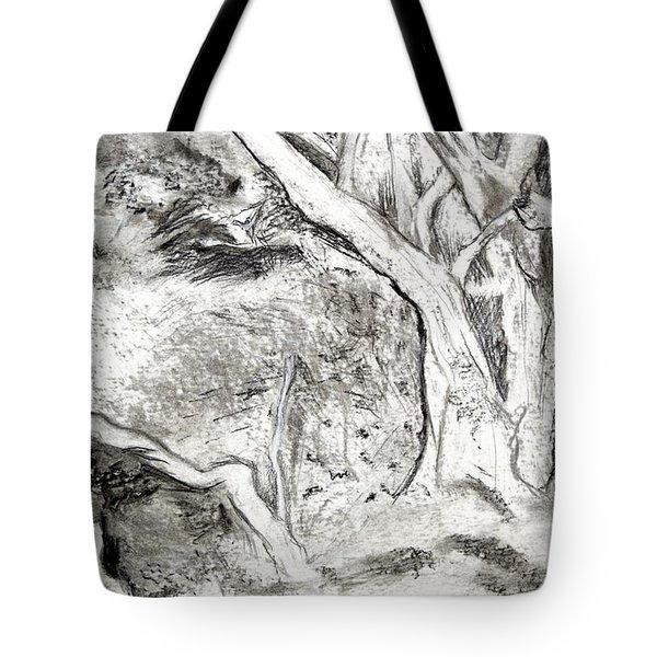 Charcoal Copse Tote Bag