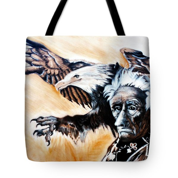 Charcoal Drawing Of Gabenahgweywence By Ayasha Loya Tote Bag