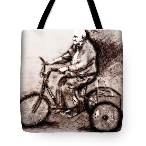 Charcoal Drawing Of Pedal To The Metal By Ayasha Loya Tote Bag