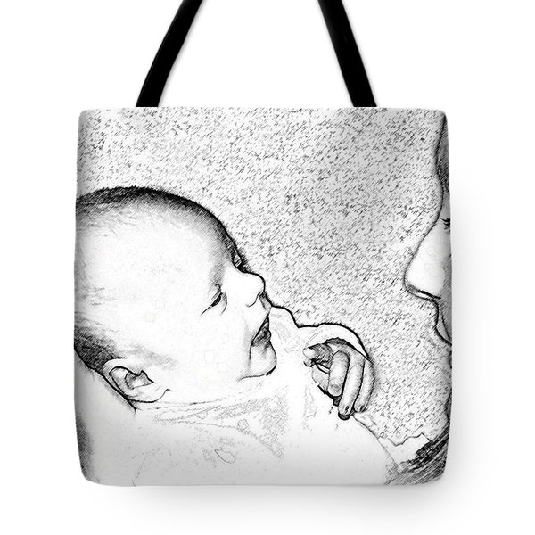 Charcoal Portrait Tote Bag
