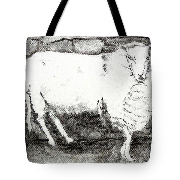 Charcoal Sheep Tote Bag