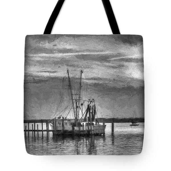 Charcoal Sunset Tote Bag