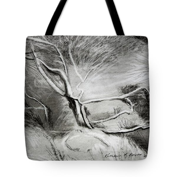 Charcoal Tree Tote Bag