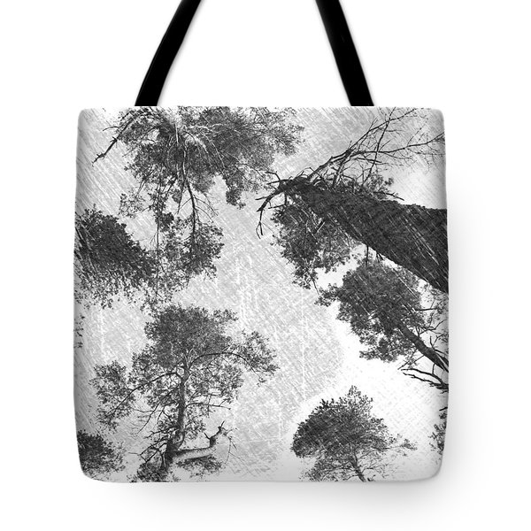Charcoal Trees Tote Bag