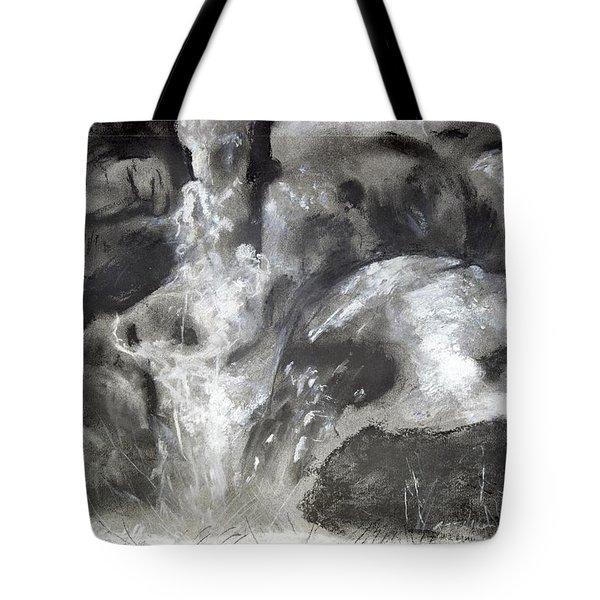 Charcoal Waterfall Tote Bag