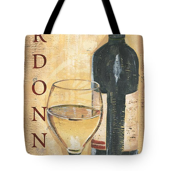 Chardonnay Wine And Grapes Tote Bag