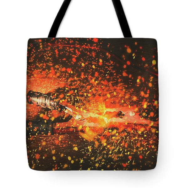 Charged Up Workshop Art Tote Bag