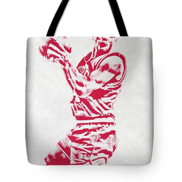 Charles Barkley Philadelphia Sixers Pixel Art Tote Bag