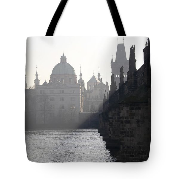 Charles Bridge At Early Morning Tote Bag by Michal Boubin