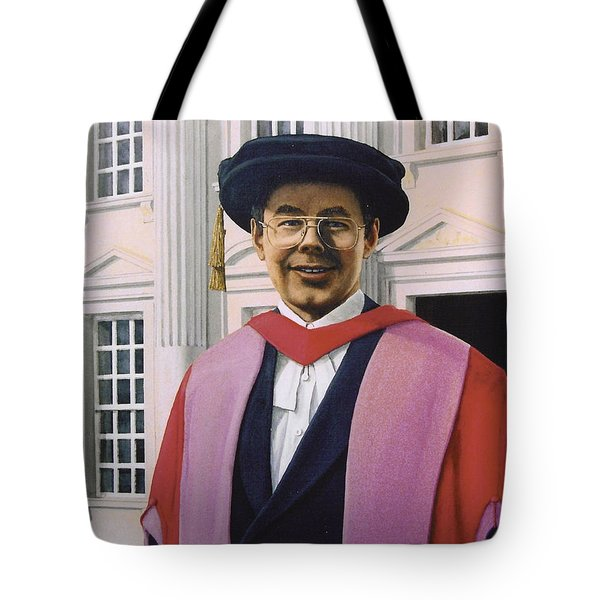 Charles Harpum Receiving Doctorate Of Law Tote Bag by Richard Harpum