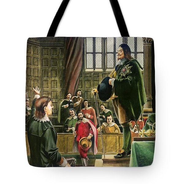 Charles I In The House Of Commons Tote Bag by English School