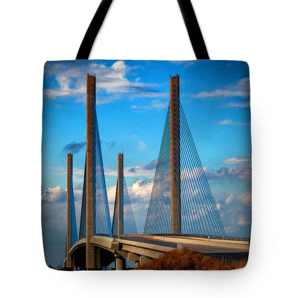 Charles W Cullen Bridge South Approach Tote Bag