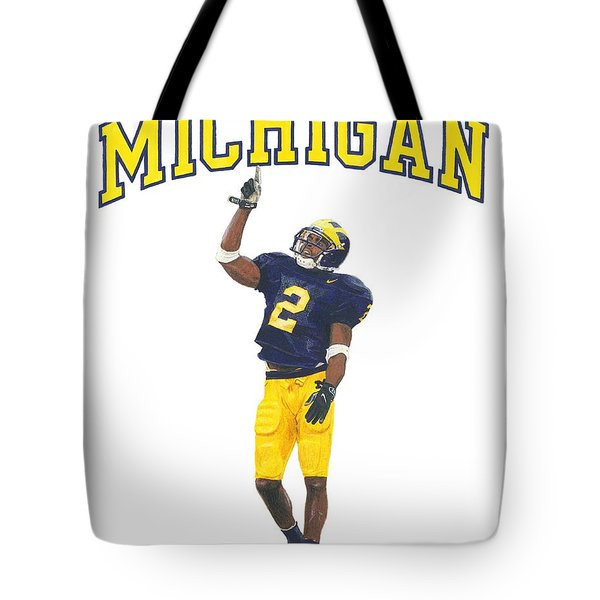 Charles Woodson Tote Bag