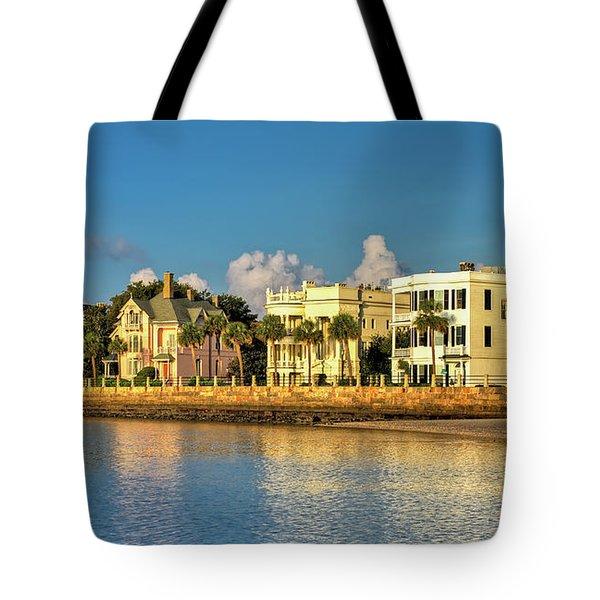 Charleston Battery Row Of Homes  Tote Bag