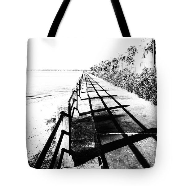 Charleston Battery Seawall Tote Bag by Alan Raasch