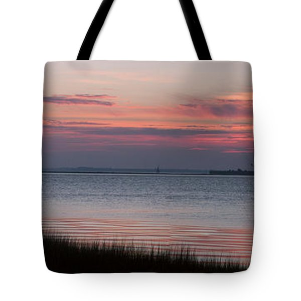 Tote Bag featuring the photograph Charleston Bay by Allen Carroll