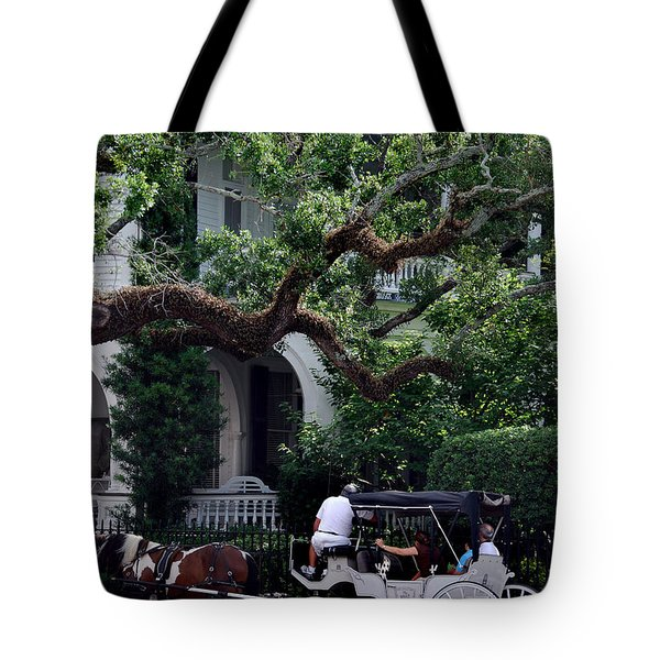 Charleston Buggy Ride Tote Bag by Skip Willits