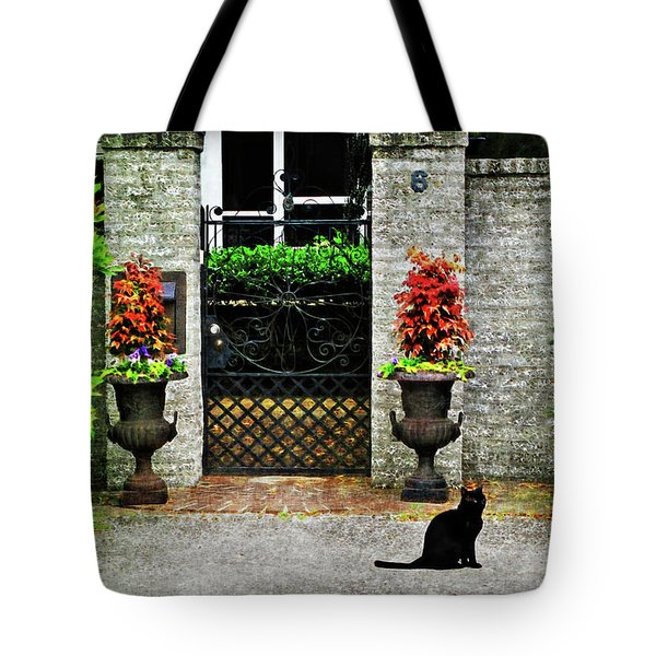 Charleston Cat Tote Bag