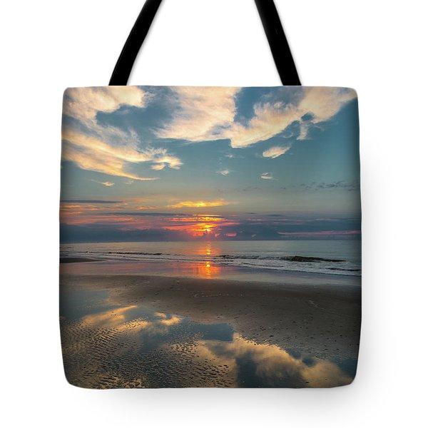 Charleston Coast Sunrise Tote Bag