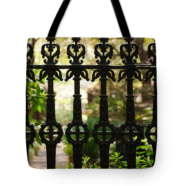 Charleston Fence Tote Bag