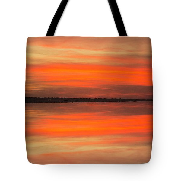 Tote Bag featuring the photograph Charleston Harbor Sunset 05 by Jim Dollar
