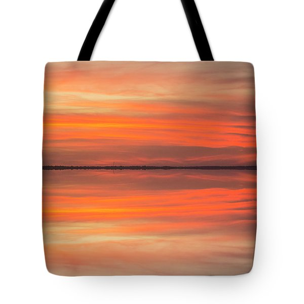 Tote Bag featuring the photograph Charleston Harbor Sunset 2017 11 by Jim Dollar