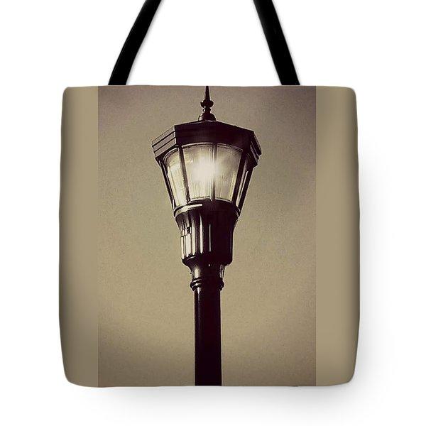 Charleston Morning Streetlight Tote Bag