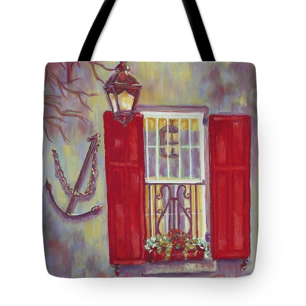 Charleston Red Shutters Tote Bag