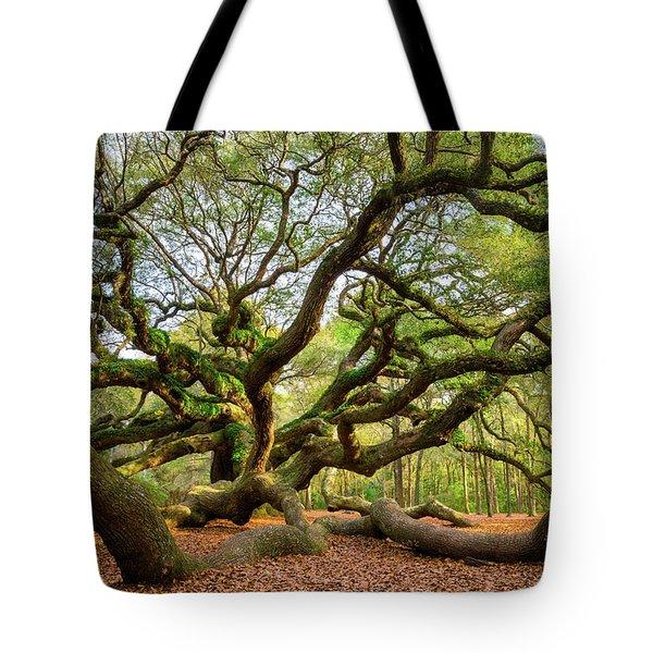 Charleston Sc Angel Oak Tree South Carolina Landscape Tote Bag