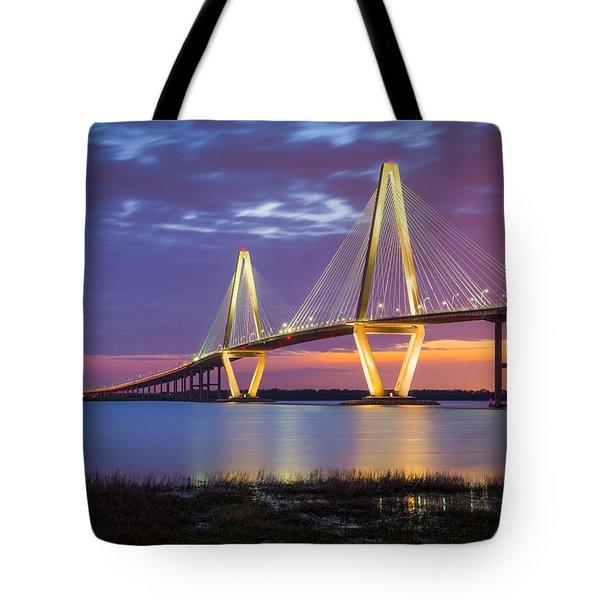 Charleston Sc Arthur Ravenel Jr Bridge Tote Bag