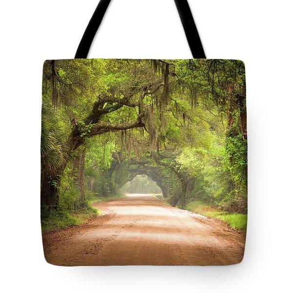 Charleston Sc Edisto Island Dirt Road - The Deep South Tote Bag
