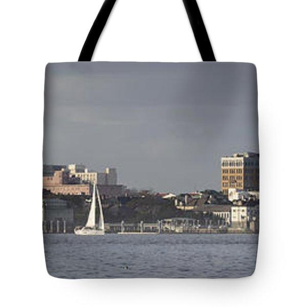 Charleston Sc Panorama Tote Bag