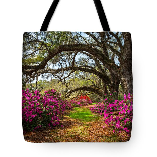 Charleston Sc Spring Flowers Scenic Landscape South Carolina  Tote Bag
