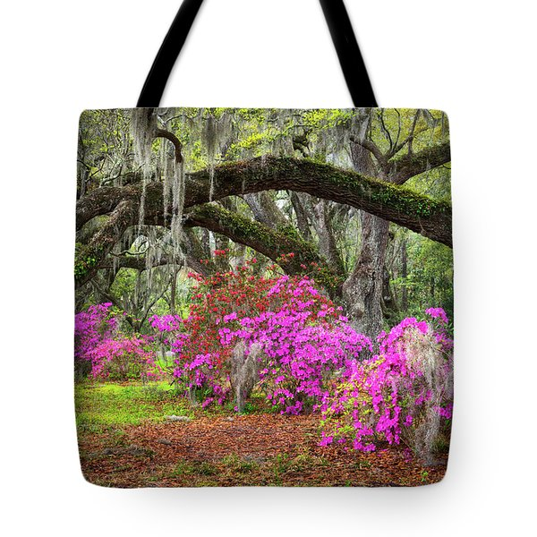 Charleston South Carolina Spring Flowers Lowcountry Landscape Photography Tote Bag