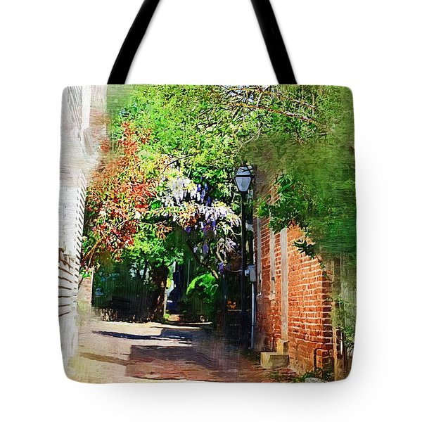 Tote Bag featuring the photograph Charlestons Alley by Donna Bentley