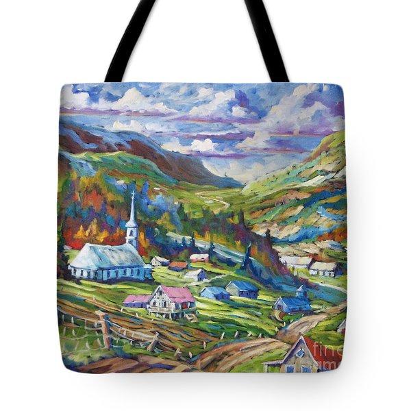 Charlevoix Inspiration Tote Bag by Richard T Pranke