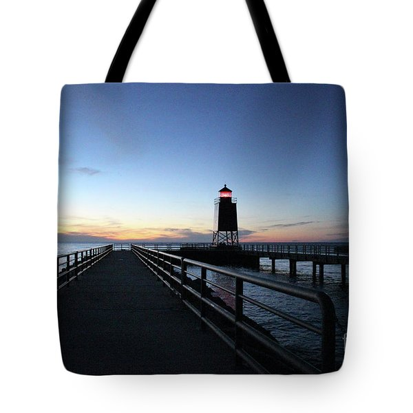 Charlevoix Light Tower Tote Bag