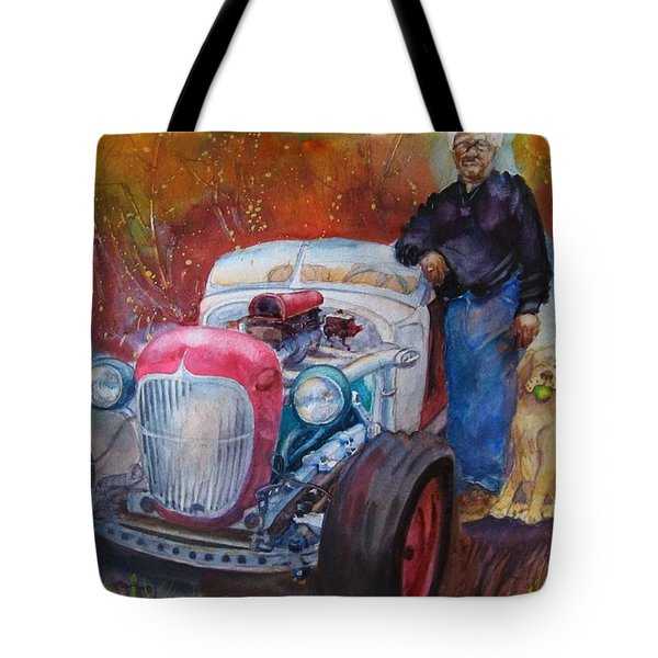 Charlie And Bella's Ride Tote Bag