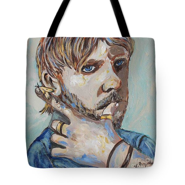Charlie And The Moth Tote Bag by Jeanne Forsythe