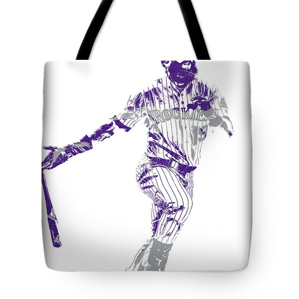 Charlie Blackmon Colorado Rockies Pixel Art 10 Tote Bag