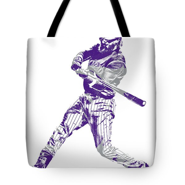 Charlie Blackmon Colorado Rockies Pixel Art 11 Tote Bag