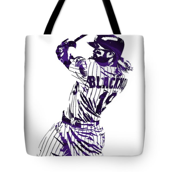 Charlie Blackmon Colorado Rockies Pixel Art 5 Tote Bag