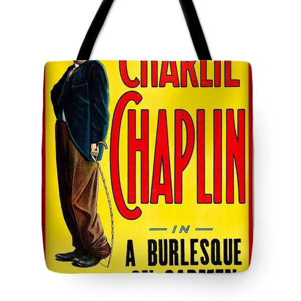 Charlie Chaplin In A Burlesque On Carmen 1915 Tote Bag