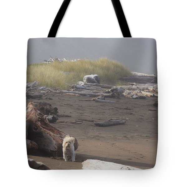 Charlie On Irish Beach Tote Bag