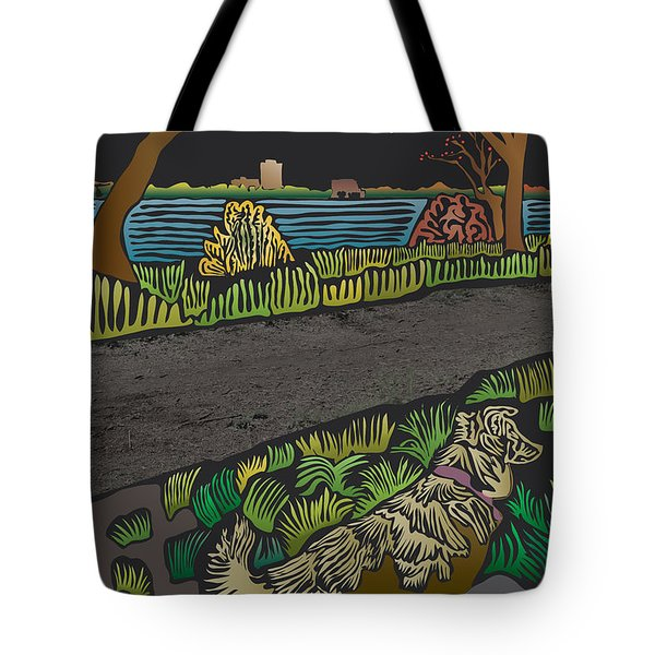Charlie On Path Tote Bag by Kevin McLaughlin