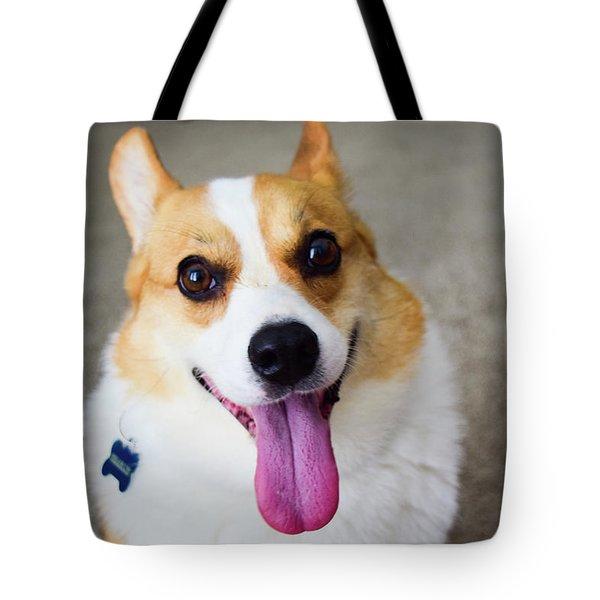 Charlie The Corgi Tote Bag