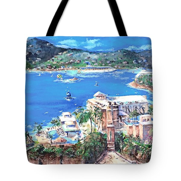 Charlotte Amalie Marriott Frenchmans Beach Resort St. Thomas Us Virgin Island Aerial Tote Bag