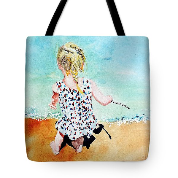Charlotte By The Lake Tote Bag by Tom Riggs