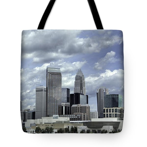 Charlotte Skyline Panorama 02 Tote Bag